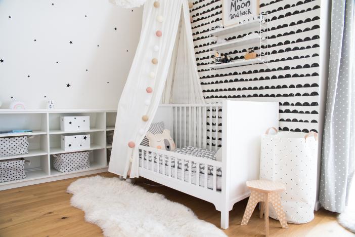 Kinderzimmergestaltung im Monochrome Look