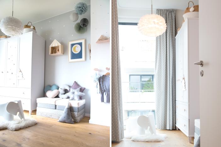 Kinderzimmer mit Vorhängen & Kuscheltextilien gestalten